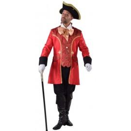 Déguisement marquis baroque homme luxe rouge noir