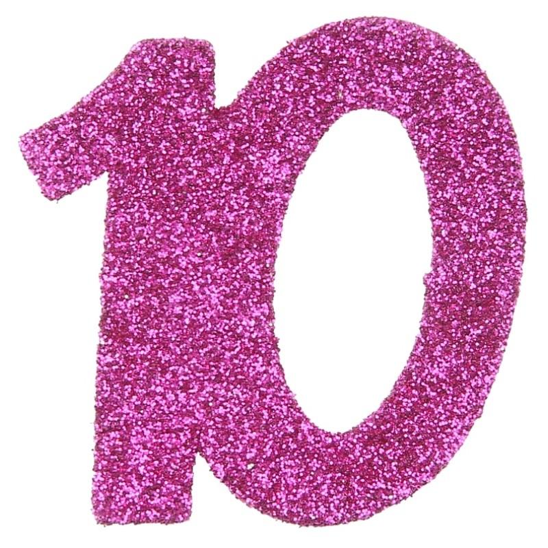 confettis anniversaire 10 ans fuchsia paillet les 6. Black Bedroom Furniture Sets. Home Design Ideas