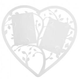 Plan de table coeur blanc