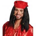 Perruque pirate homme avec bandana rouge