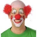 Perruque clown rouge homme avec nez de clown