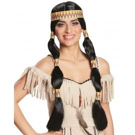 Perruque cheyenne indienne femme