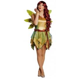 Déguisement elfe fée des bois femme luxe