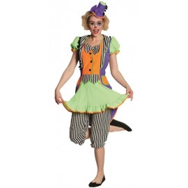 Déguisement clown néon femme