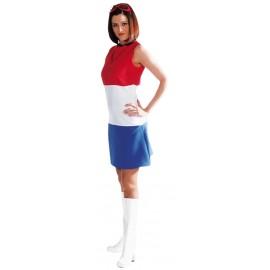 Déguisement Pays-Bas rouge-blanc-bleu femme luxe