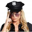 Casquette policier noire adulte