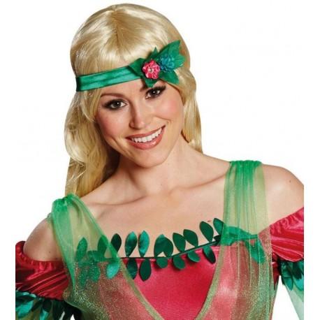 Bandeau fée fleur vert avec feuille femme