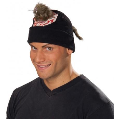 Bonnet noir avec rat chapeau adulte