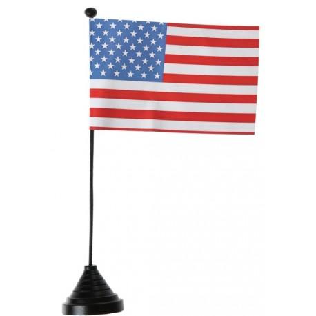 Drapeau de table USA 25 cm