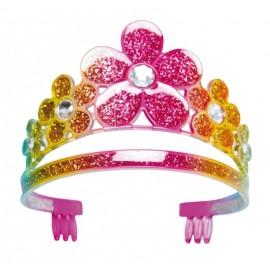 Diadème princesse fille à fleurs
