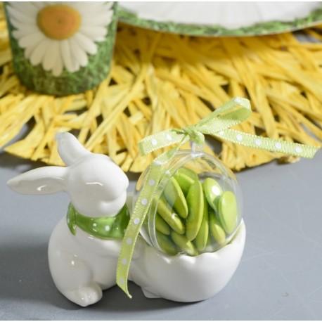Coquetier lapin blanc en dolomite les 20