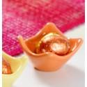 Coquetiers coupelle orange en dolomite les 40