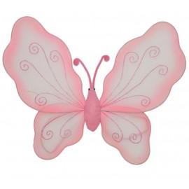 Ailes papillon rose enfant 35 x 45 cm