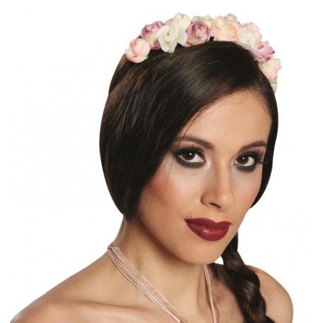 Serre-tête couronne de fleurs adulte flower headband