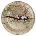 Assiettes carton Voyage 22.5 cm les 10