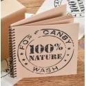 Livre d'or Kraft naturel 100% nature