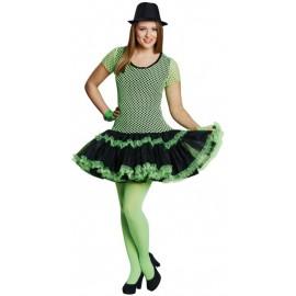 Déguisement années 80 femme néon vert