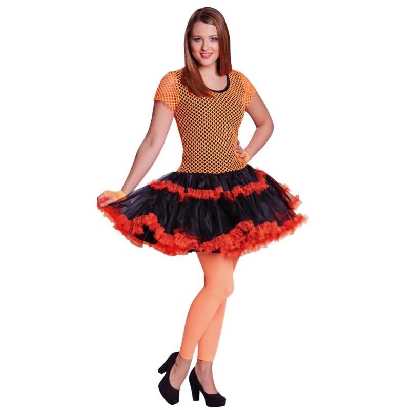 d guisement ann es 80 femme n on orange. Black Bedroom Furniture Sets. Home Design Ideas