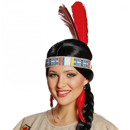 Bandeau indien avec plumes adulte et enfant