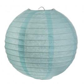 Lanternes boule chinoise papier bleu ciel 30 cm les 2