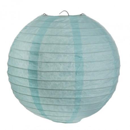 Lanterne boule chinoise papier bleu ciel 30 cm les 2