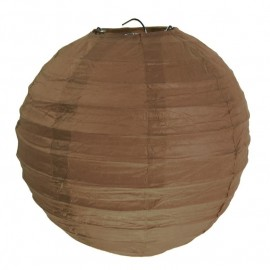 Lanternes boule chinoise papier chocolat 30 cm les 2