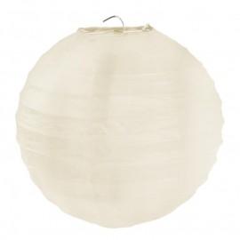 Lanternes boule chinoise papier ivoire 30 cm les 2