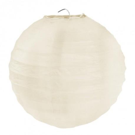 Lanterne boule chinoise papier ivoire 30 cm les 2