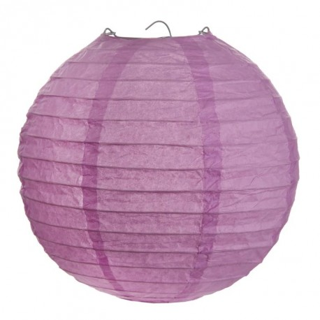 Lanterne boule chinoise papier parme 30 cm les 2