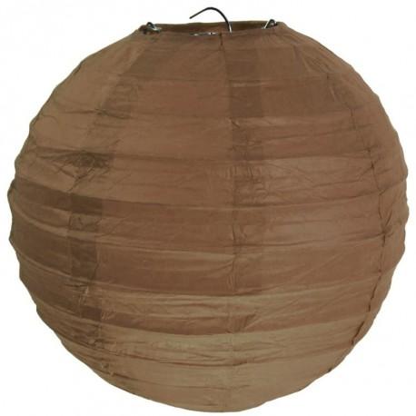 Lanterne boule chinoise papier chocolat 50 cm