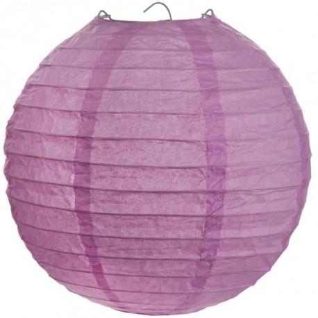 lanterne boule chinoise papier parme 50 cm. Black Bedroom Furniture Sets. Home Design Ideas