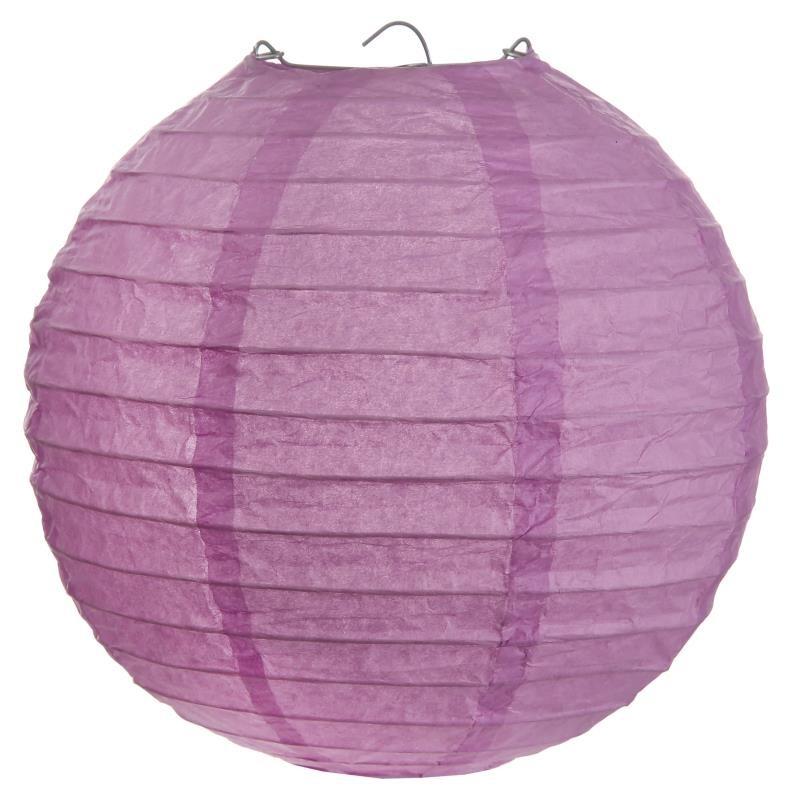 Lanterne boule chinoise papier parme 50 cm - Boule papier chinoise ...