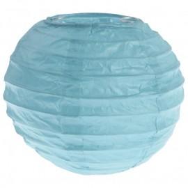 Lanternes boule chinoise papier bleu ciel 10 cm les 2