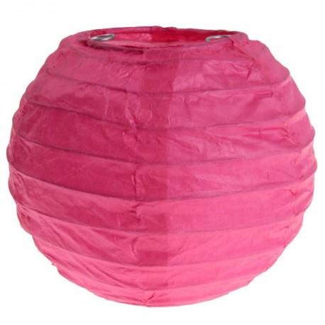 Lanterne boule chinoise papier fuchsia 10 cm les 2