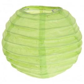 Lanternes boule chinoise papier vert anis 10 cm les 2