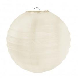 Lanternes boule chinoise papier ivoire 20 cm les 2