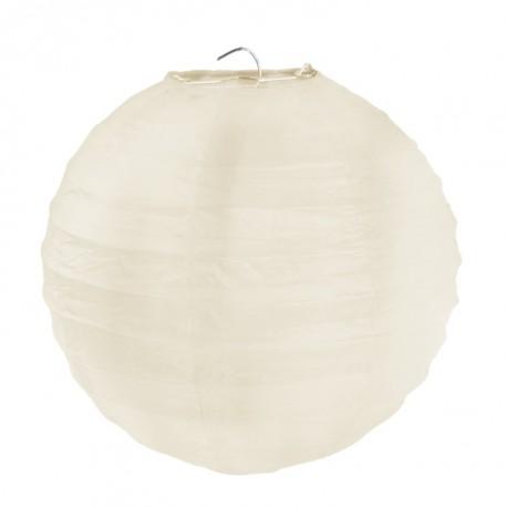 Lanterne boule chinoise papier ivoire 20 cm les 2