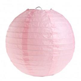 Lanternes boule chinoise papier rose 20 cm les 2