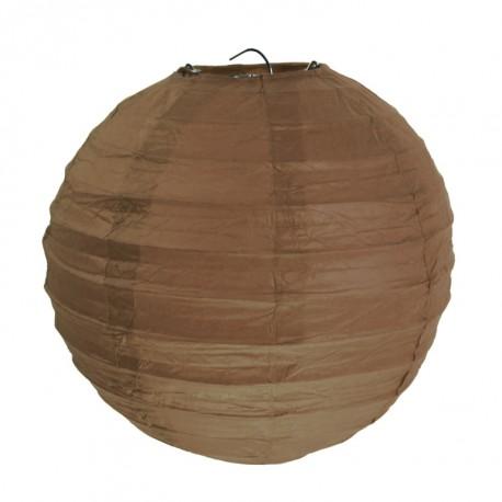 Lanterne boule chinoise papier chocolat 20 cm les 2