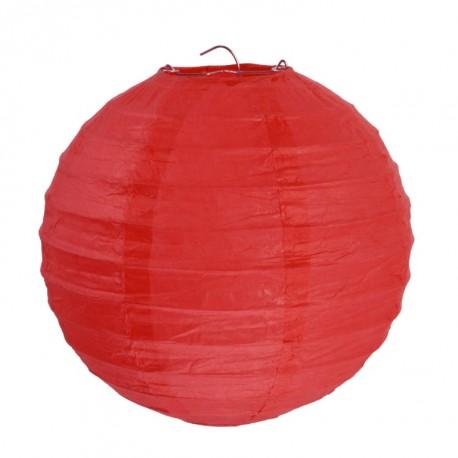 Lanterne boule chinoise papier rouge 20 cm les 2
