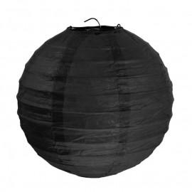 Lanternes boule chinoise papier noir 20 cm les 2