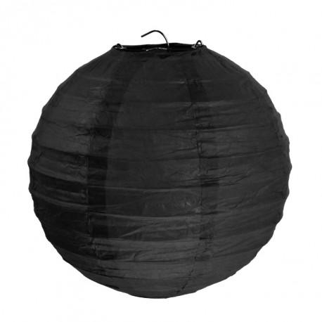 Lanterne boule chinoise papier noir 20 cm les 2