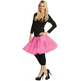 Déguisement Jupon tulle néon rose femme