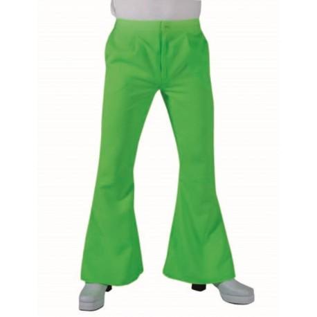 Déguisement pantalon hippie fluo vert homme luxe