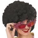 Perruque hippie noire adulte