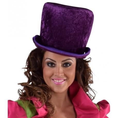 Chapeau haut de forme violet femme luxe