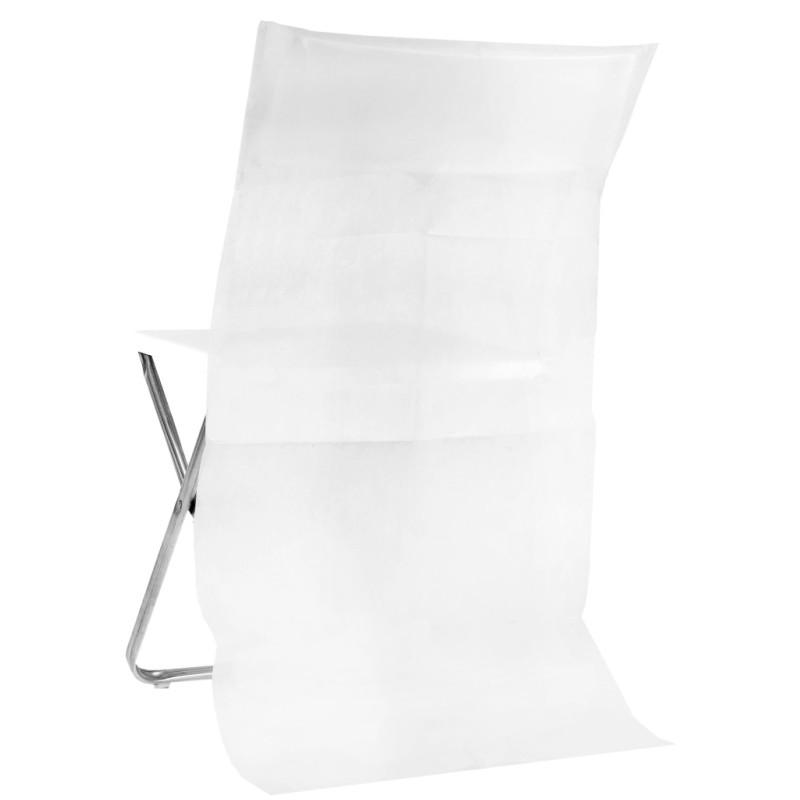 Housse dossier de chaise intiss blanc les 50 - Housse de chaise blanc ...
