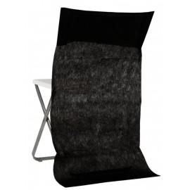 Housses dossier de chaise intissé noir les 50