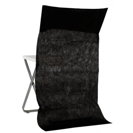 Housse dossier de chaise intissé noir les 50