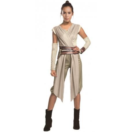 Déguisement adulte Rey Star Wars VII luxe